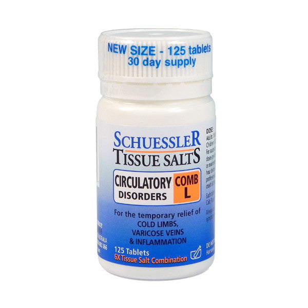 Martin and Pleasance Comb L Schuessler Tissue Salts 125 Tablets