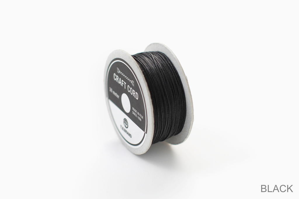 CRAFT CORD -WAX CORD- BLACK
