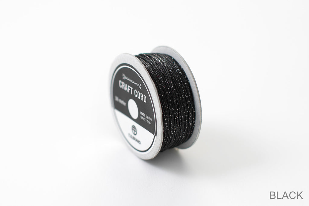 CRAFT CORD -GLITTER BLEND- BLACK