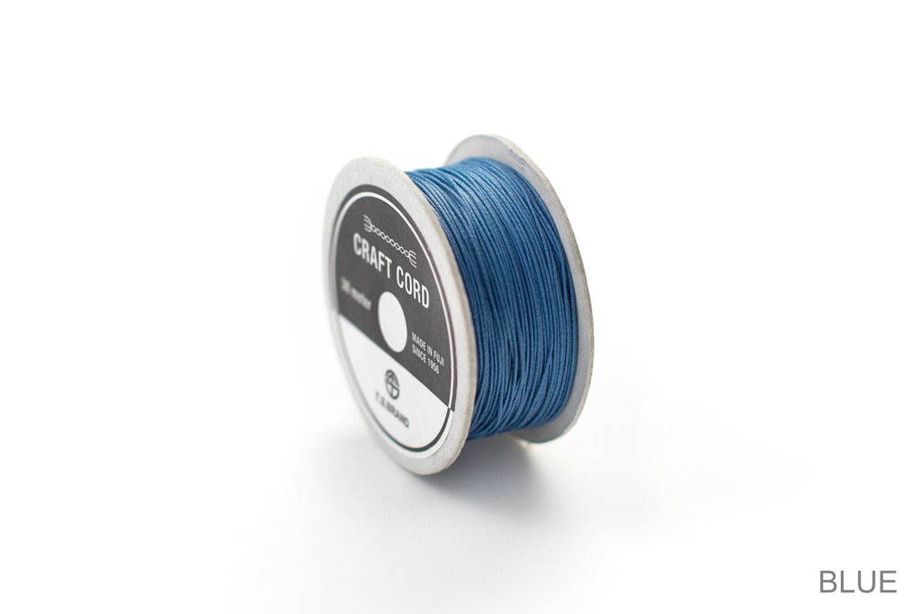 CRAFT CORD -WAX CORD- BLUE