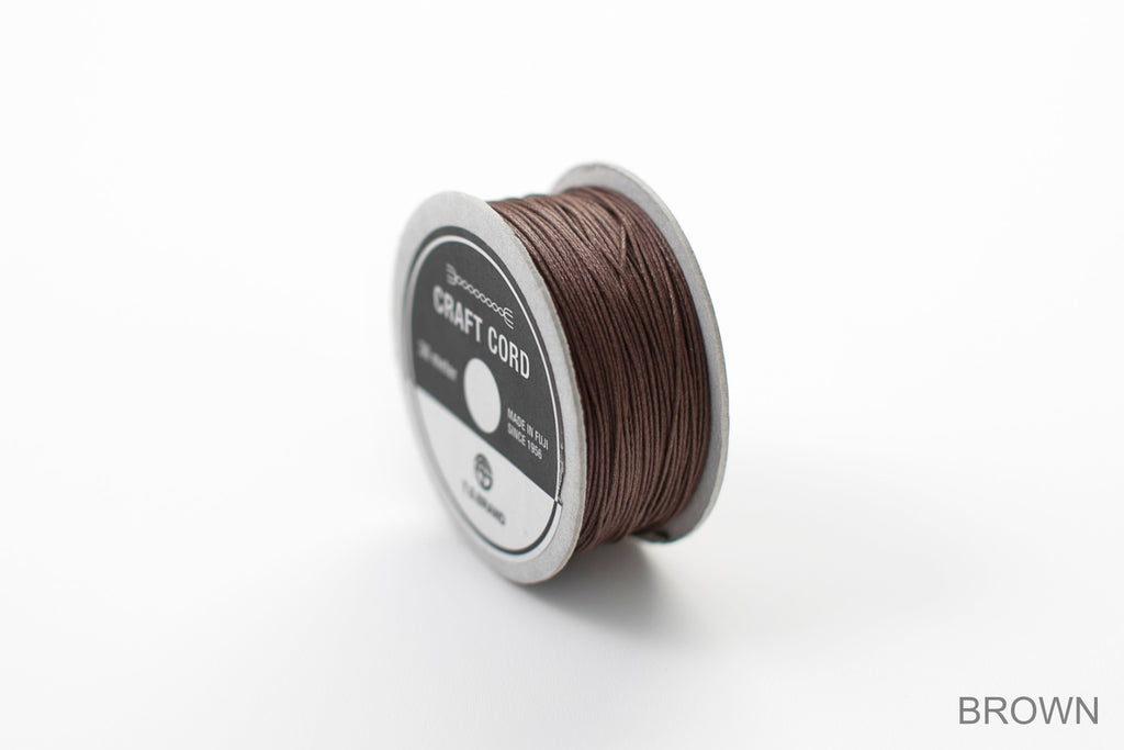 CRAFT CORD -WAX CORD- BROWN