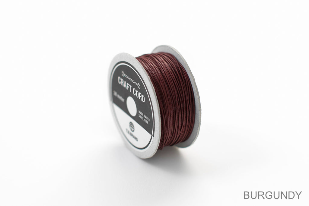 CRAFT CORD -WAX CORD- BURGUNDY