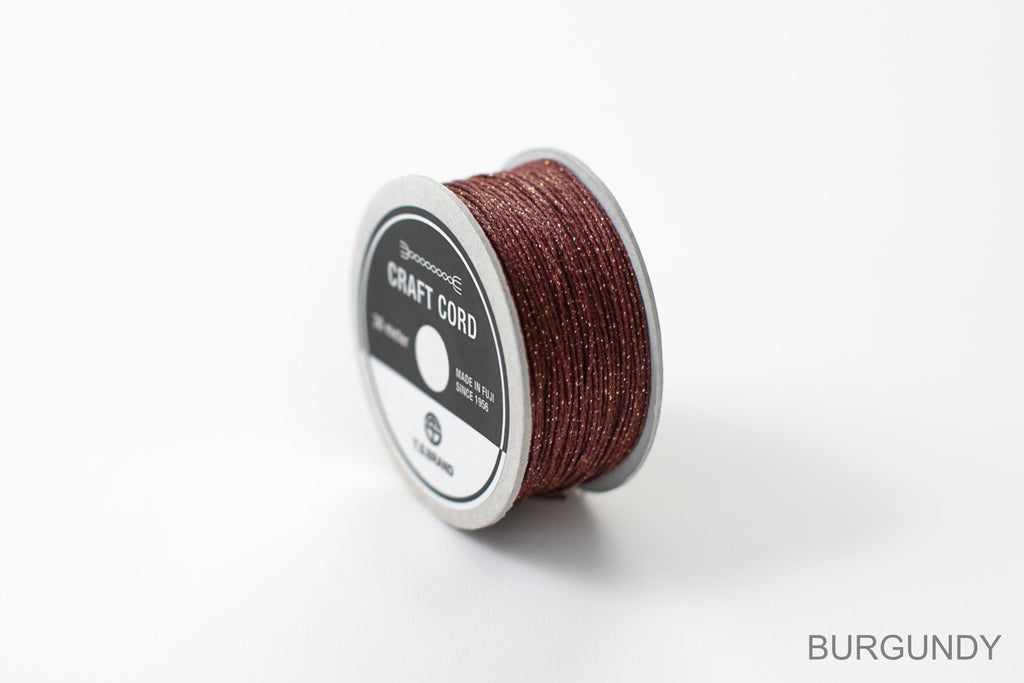 CRAFT CORD -GLITTER BLEND- BURGUNDY