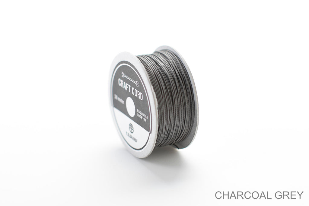 CRAFT CORD -WAX CORD- CHARCOALGREY