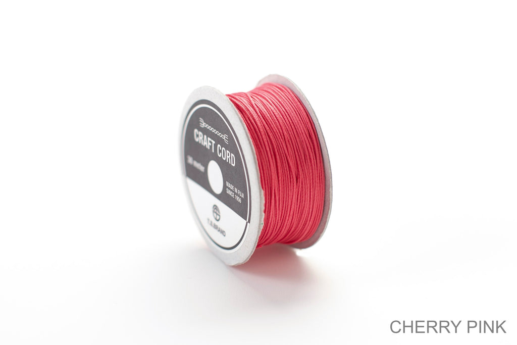 CRAFT CORD -WAX CORD- CHERRYPINK