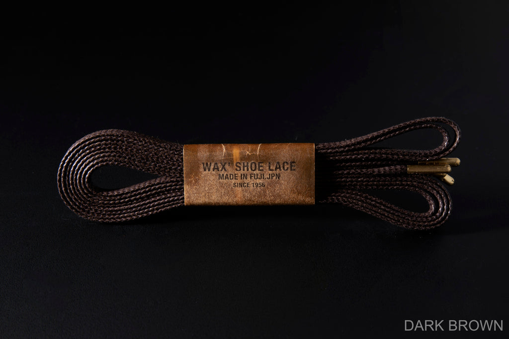 WAX' SHOE LACE -FLAT- DARK BROWN