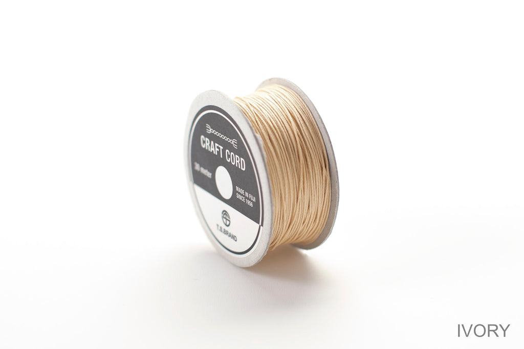 CRAFT CORD -WAX CORD- IVORY