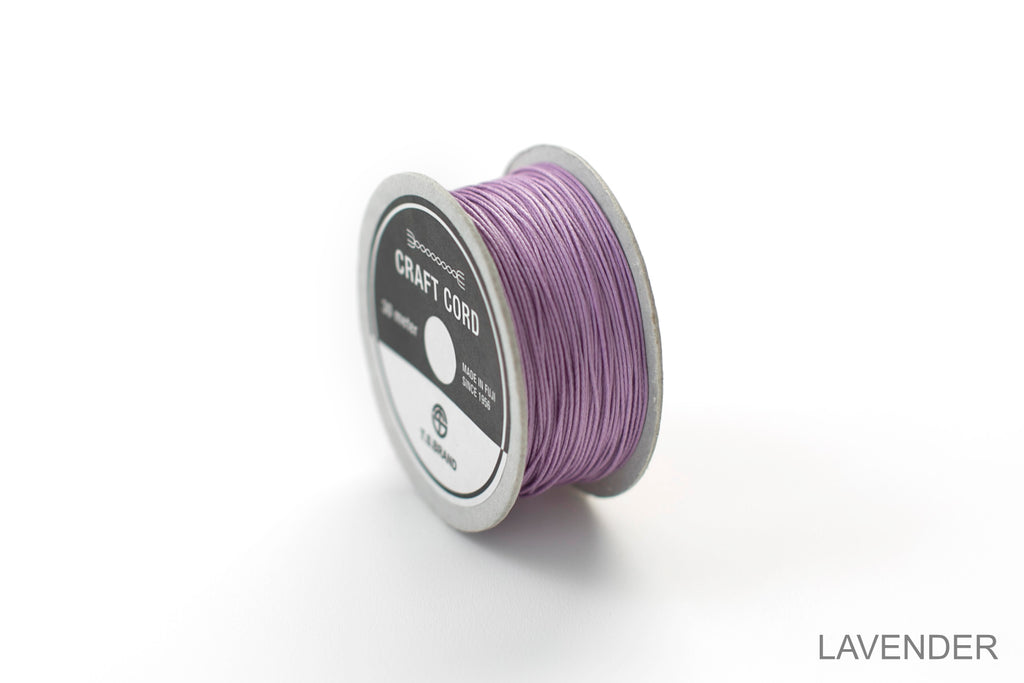 CRAFT CORD -WAX CORD- LAVENDER