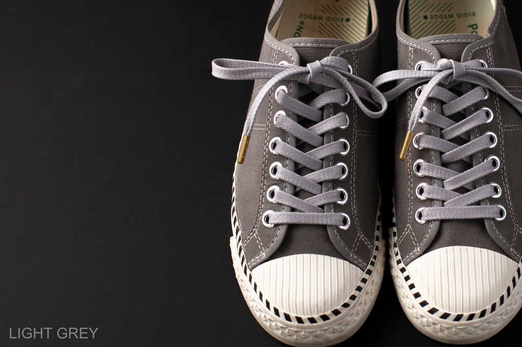 WAX' SHOE LACE -FLAT- LIGHT GREY