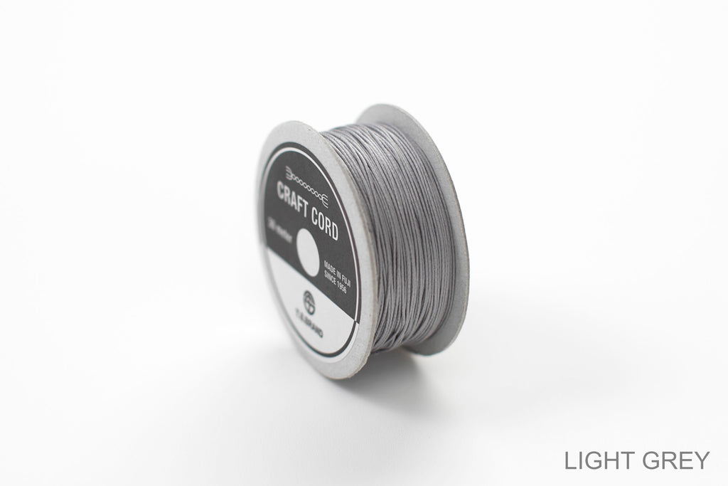 CRAFT CORD -WAX CORD- LIGHTGREY