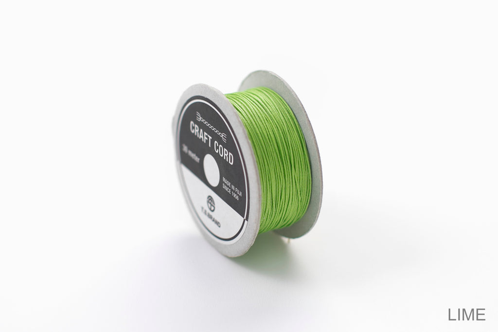 CRAFT CORD -WAX CORD- LIME