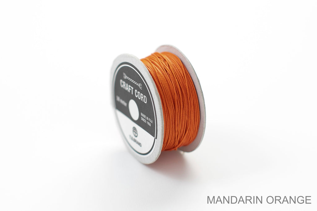 CRAFT CORD -WAX CORD- MANDARINORANGE
