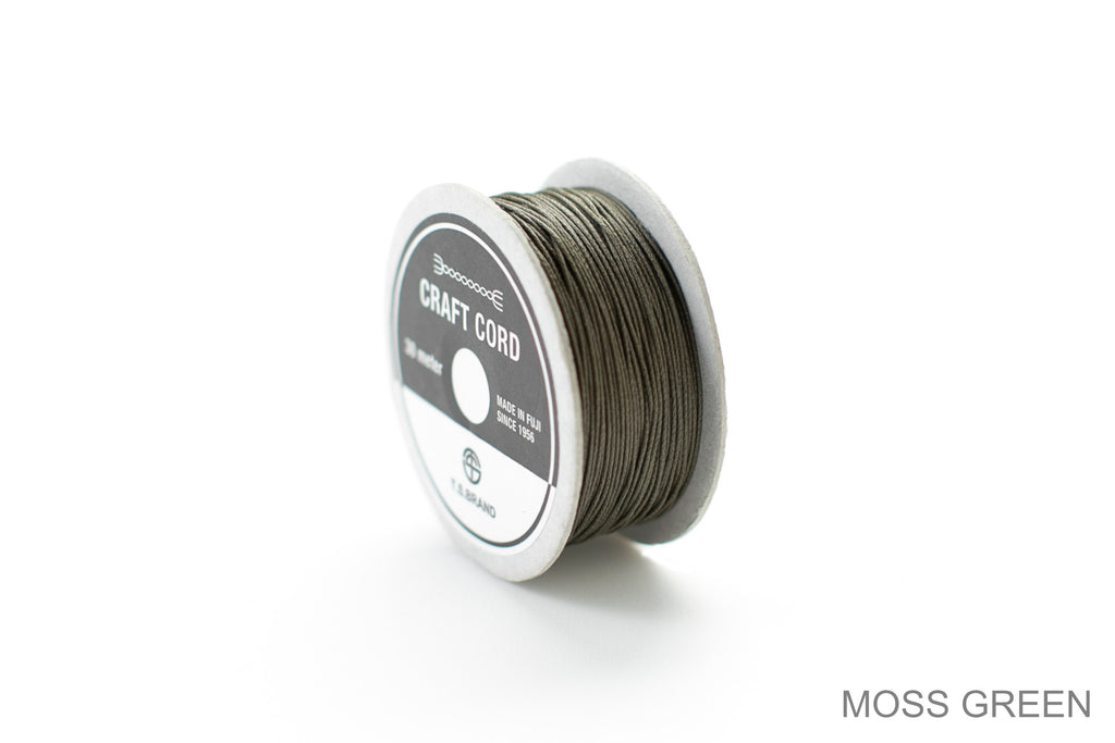 CRAFT CORD -WAX CORD- MOSSGREEN