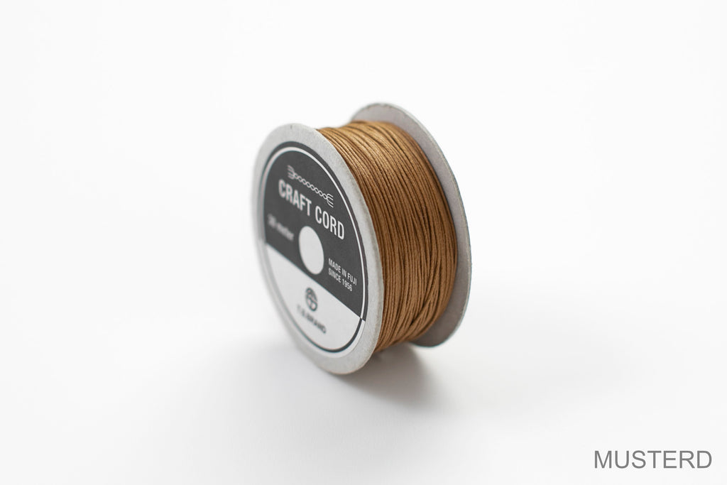 CRAFT CORD -WAX CORD- MUSTERD