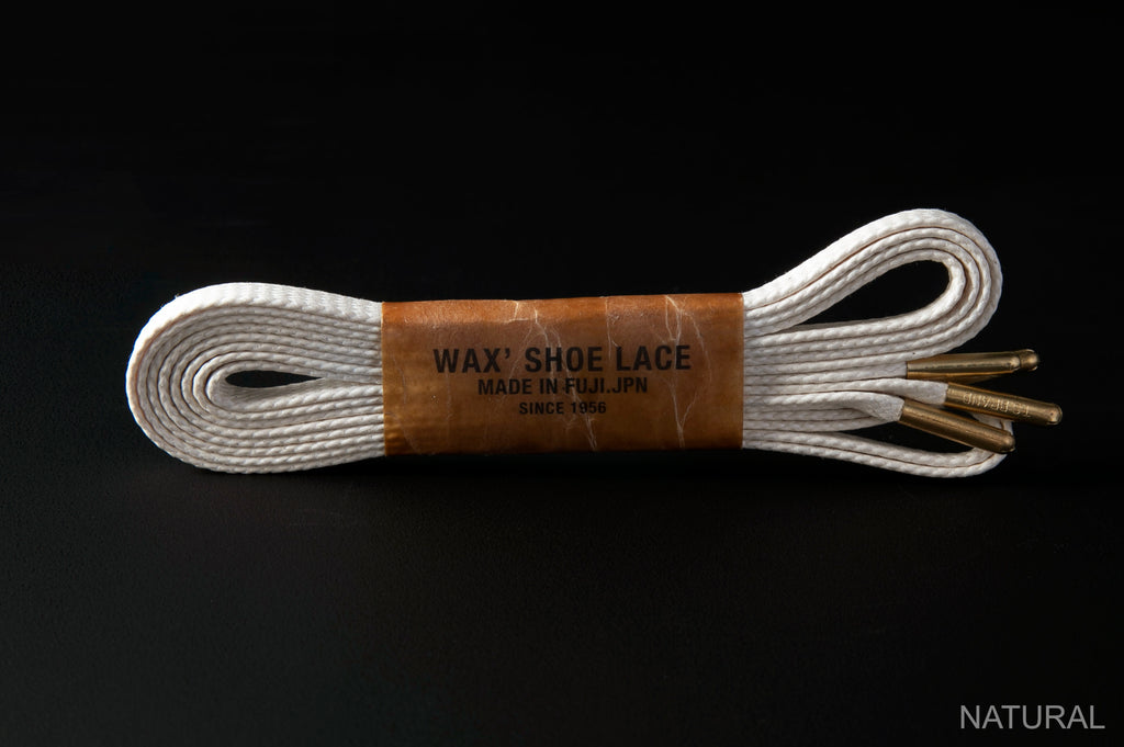 WAX' SHOE LACE -FLAT- NATURAL
