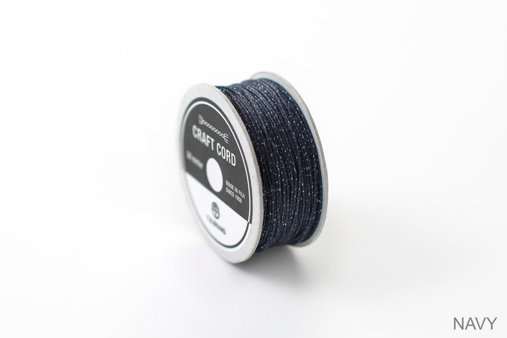 CRAFT CORD -GLITTER BLEND- NAVY