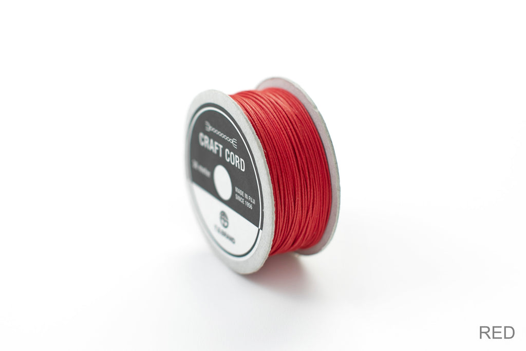 CRAFT CORD -WAX CORD- RED