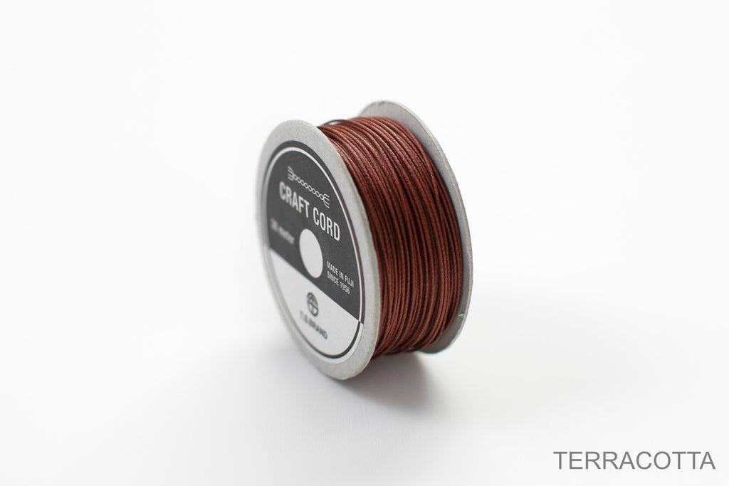 CRAFT CORD -WAX CORD- TERRACOTTA