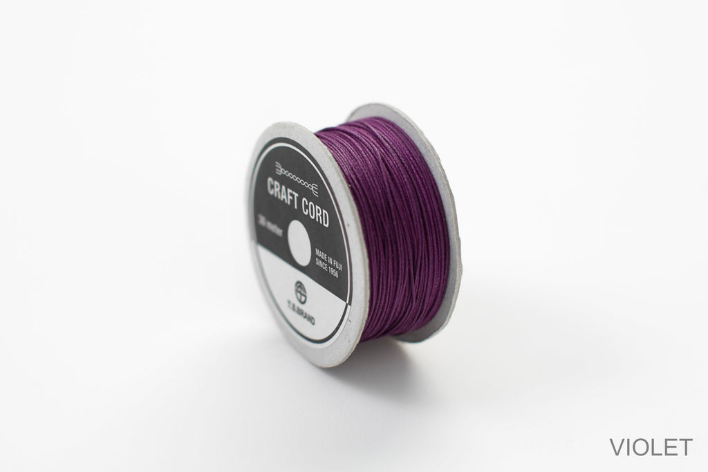 CRAFT CORD -WAX CORD- VIOLET