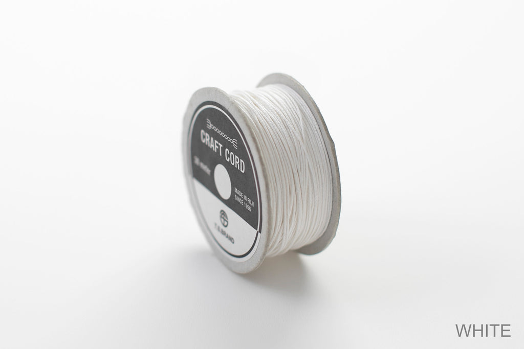 CRAFT CORD -WAX CORD- WHITE