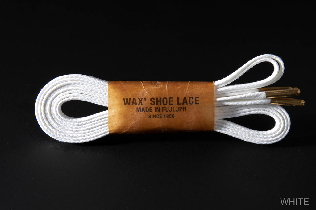 WAX' SHOE LACE -FLAT- WHITE