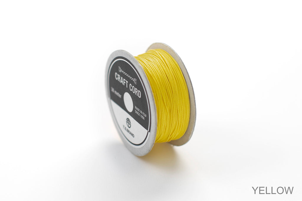 CRAFT CORD -WAX CORD- YELLOW