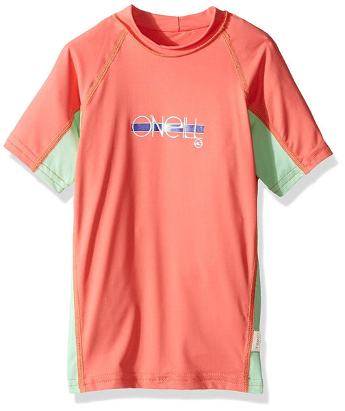 O'Neill Skins S/S Crew Rashguard - Youth Girls?id=15666139070523