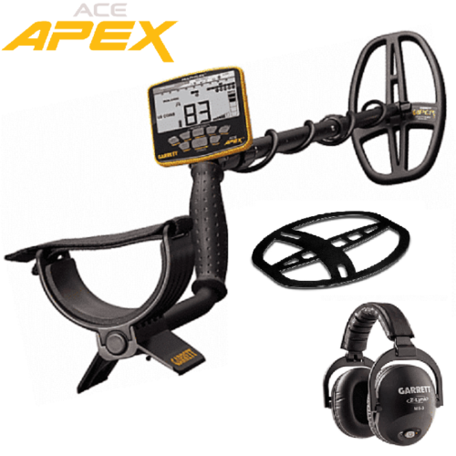 Garrett ACE APEX Detector with Z-Lynk Wireless Headphone Package and Coil Cover
