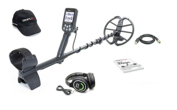 Nokta Makro Simplex+ Waterproof Metal Detector w/ Wireless Headphones