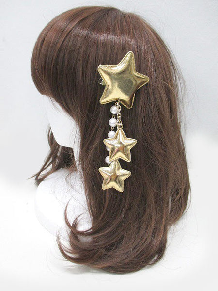 Gold Stars Badge/Hair Accessory
