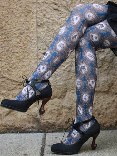 Eine Lilie Cat's Portrait Tights