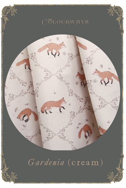 Otome kei fox print by Mulberry Chronicles Melbourne Indie Brand
