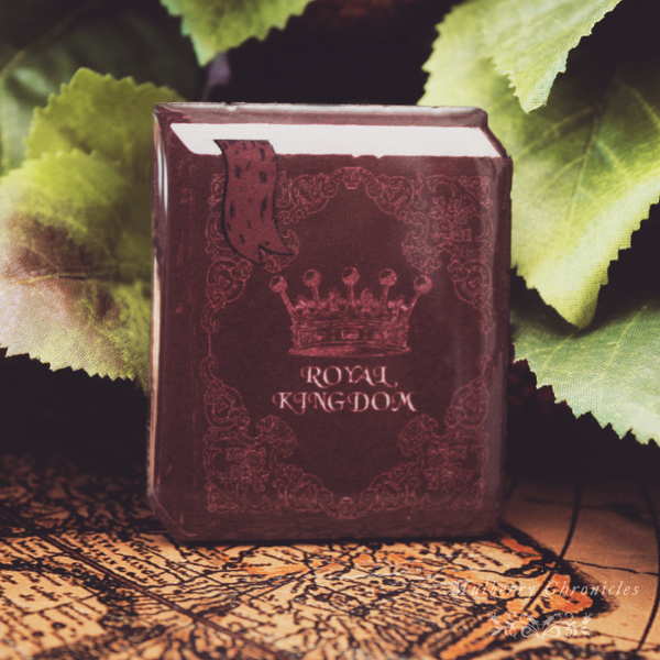 The Royal Kingdom Book (Bordeaux Book Brooch)