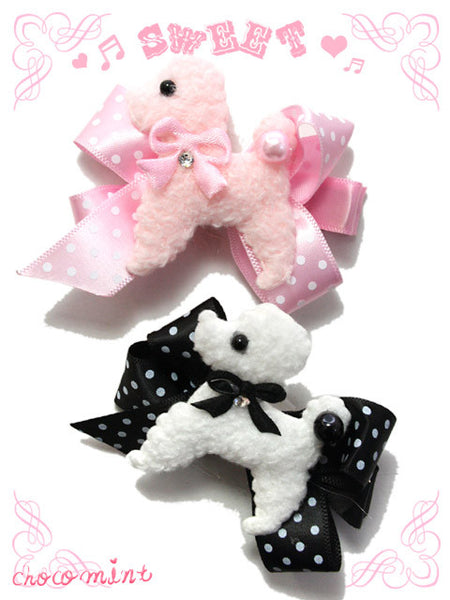 Pink Poodle Hair Clip