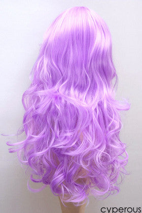 Cyperous White Purple wig