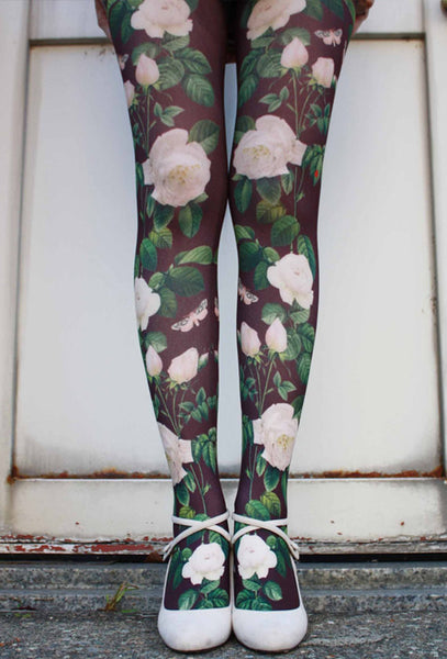 Eine Lilie White Roses Tights
