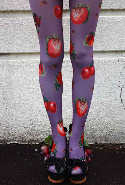 Eine Lilie Fruits & Bugs Tights Purple