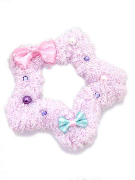 Kawaii Fluffy Star Badge/Hair Accessory - Lavender