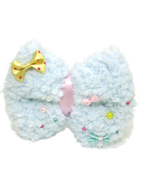 Kawaii Fluffy Bow Badge/Hair Accessory (Large)