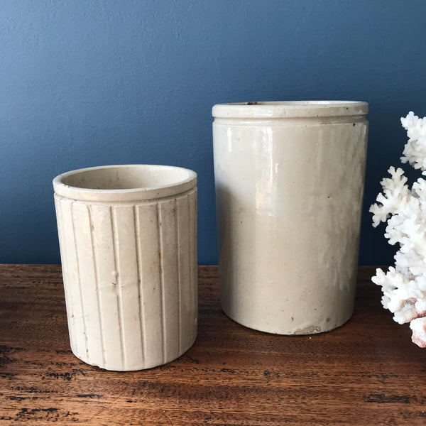Small and Medium set of English stoneware jars