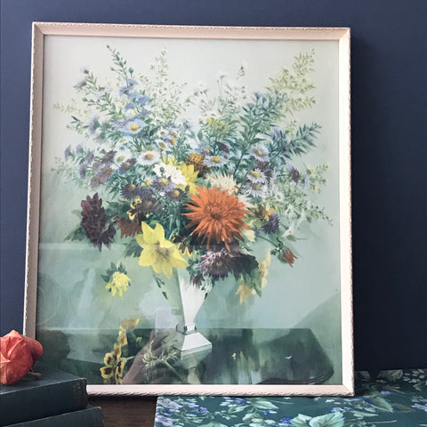Vernon Ward framed painting of Autumn flowers