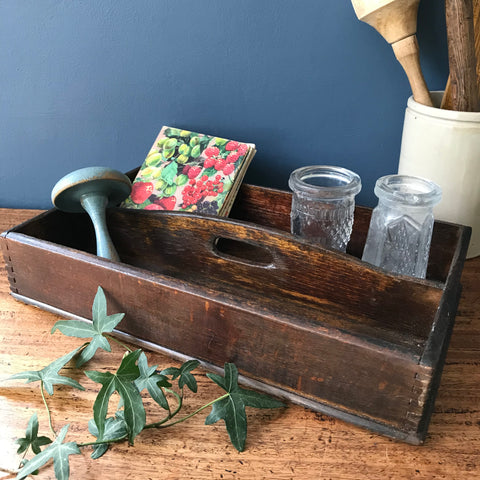 Old wooden cutlery tray