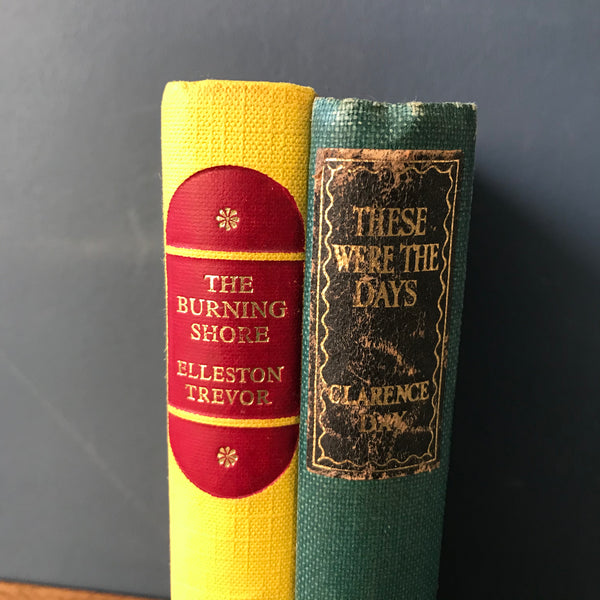 Bundle of green and yellow vintage books