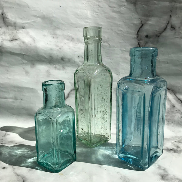 Collection of old kitchen bottles