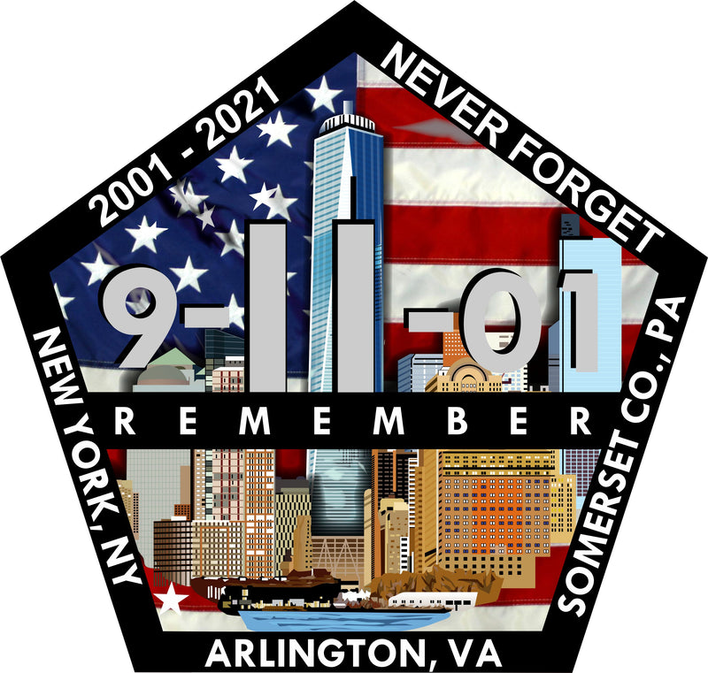 9-11-01 2021 Anniversary Pentagon Decal - Powercall Sirens LLC