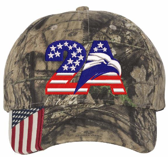 2nd Amendment 2A Eagle Embroidered Adjustable Hat - Powercall Sirens LLC
