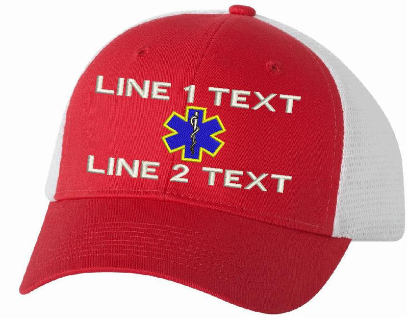 Trucker VC400 Adjustable 2 Line EMS Star Hat - Powercall Sirens LLC