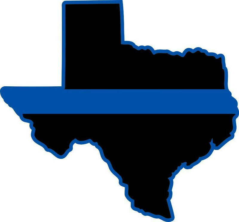 Texas Thin Blue Line Reflective Decal - Powercall Sirens LLC