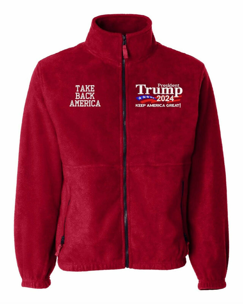 Trump 2024 Take Back America Embroidered Sierra Pacific 3061 Fleece Jacket - Powercall Sirens LLC