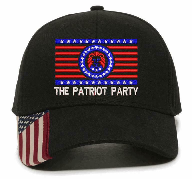The Patriot Party Hat - Embroidered USA300 Flag Brim Adjustable Hat TRUMP 2024 - Powercall Sirens LLC